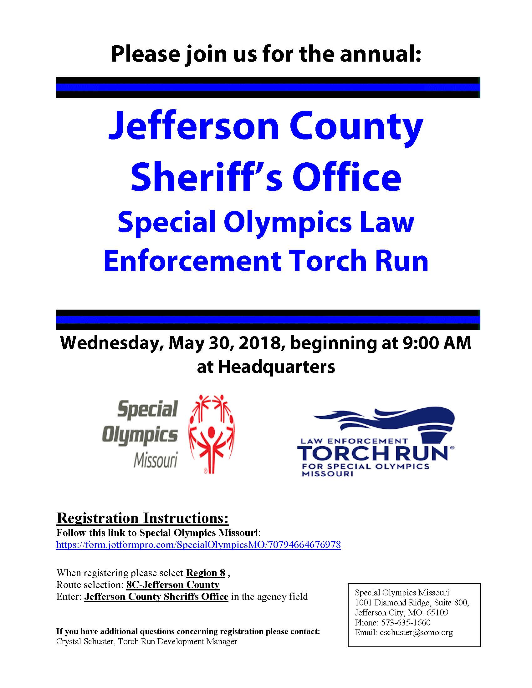 Special Olympics Torch Run 2018